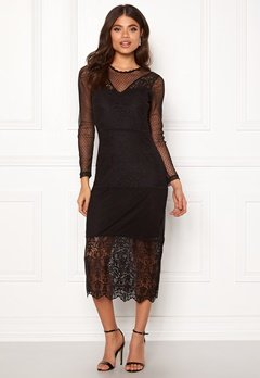 ONLY Sam L/S Lace Dress Black Bubbleroom.fi