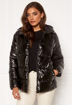 ONLY Savanna Metallic Puffer Black Bubbleroom.fi