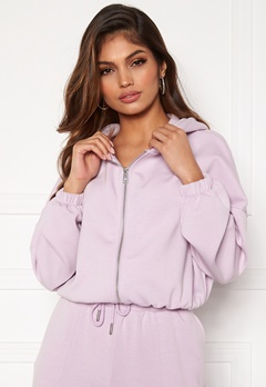 ONLY Scarlett L/S Hood Zip SWT Orchid Bloom Bubbleroom.fi