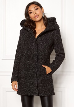 ONLY Sedona Boucle Wool Coat Black Bubbleroom.fi