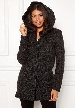 ONLY Sedona Boucle Wool Coat Black Bubbleroom.fi