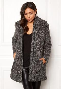 ONLY Sedona Boucle Wool Coat Dark Grey Melange Bubbleroom.fi