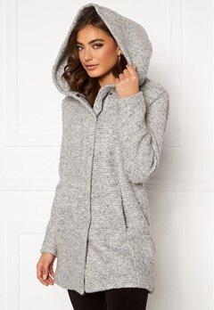 ONLY Sedona Boucle Wool Coat Light Grey Melange Bubbleroom.fi