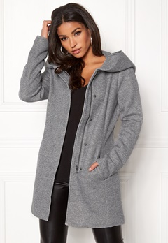 ONLY Sedona Light Coat Light Grey Melange Bubbleroom.fi