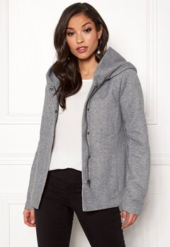 ONLY Sedona Short Jacket Light Grey Melange Bubbleroom.fi