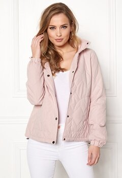 ONLY Serena Quilted Jacket Rose Smoke Bubbleroom.fi