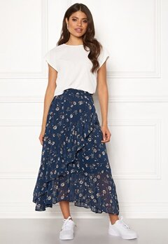ONLY Sheena Mid Skirt Insignia Blue Bubbleroom.fi