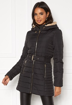 ONLY Shelly Hooded Coat Black Bubbleroom.fi