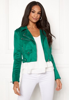 ONLY Sherry Cropped Biker Cadmium Green Bubbleroom.fi