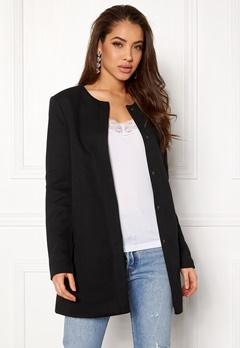 ONLY Sidney Light Coat Black Bubbleroom.fi