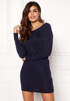 ONLY Sigga Lurex Dress Black/Blue Lurex Bubbleroom.fi