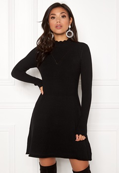 ONLY Sonia L/S Dress Black Bubbleroom.fi