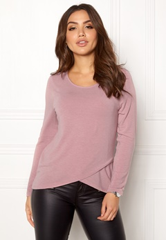 ONLY Sonja Mida 7/8 Wrap Top Withered Rose Bubbleroom.fi