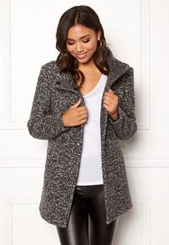 ONLY Sophia Boucle Wool Coat Dark Grey Melange Bubbleroom.fi