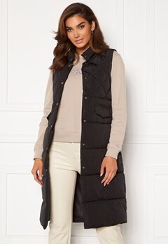 ONLY Stacy Quilted Waistcoat black<br>  Bubbleroom.fi