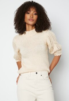 ONLY Sussie Wool 3/4 Highneck Pullover Ecru bubbleroom.fi