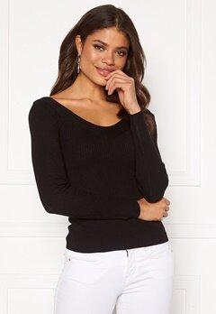 ONLY Tanzia L/S V-Neck Pullover KNT Black Bubbleroom.fi