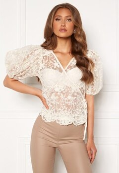 ONLY Temple Lace Puff Top Creme<br>  bubbleroom.fi