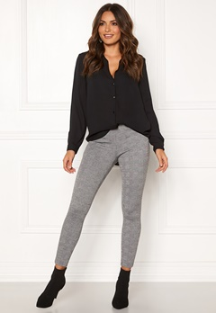 ONLY Tia Check Leggings Black Bubbleroom.fi