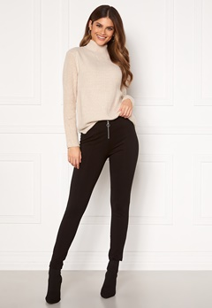 ONLY Tia-zip Legging Black Bubbleroom.fi