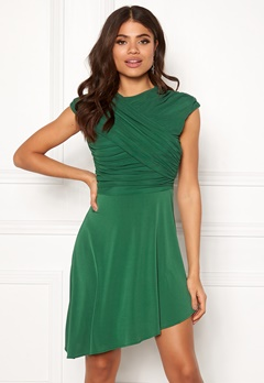 ONLY True S/L Drappy Dress Verdant Green Bubbleroom.fi