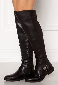 ONLY Tyra-5 PU Long Shaft Boot Black Bubbleroom.fi