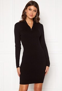 ONLY Tyra L/S Highneck Dress Black Bubbleroom.fi