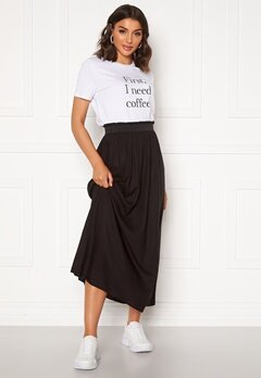 ONLY Venedig Paperbag Long Skirt Black Bubbleroom.fi