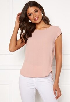 ONLY Vic S/S Solid Top Pale Mauve Bubbleroom.fi