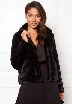 ONLY Vida Faux Fur Jacket Black Bubbleroom.fi