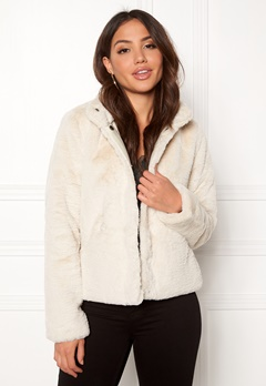 ONLY Vida Faux Fur Jacket Pumice Stone Bubbleroom.fi