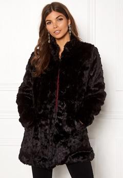 ONLY Viva Fur Coat Black Bubbleroom.fi