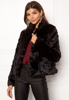 ONLY Viva Fur Jacket Black Bubbleroom.fi