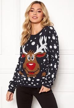 ONLY X-mas Bell Reindeer L/S Night Sky Bubbleroom.fi