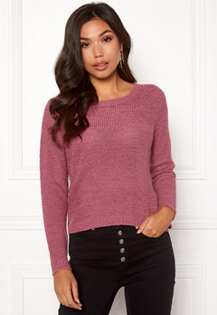 ONLY Geena L/S Pullover Rose Wine Bubbleroom.fi
