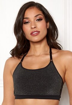 ONLY PLAY Sparkle Seamless Bra Black Bubbleroom.fi