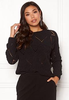 ONLY Yasmin L/S Pullover Black Bubbleroom.fi