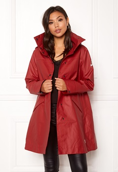 Odd Molly Outstanding Rainjacket Deep Red Bubbleroom.fi