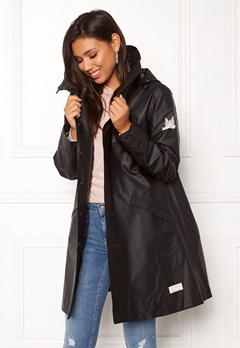 Odd Molly Outstanding Rainjacket Almost Black Bubbleroom.fi