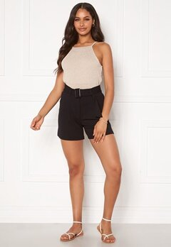 Pieces Adora MW Shorts Black Bubbleroom.fi