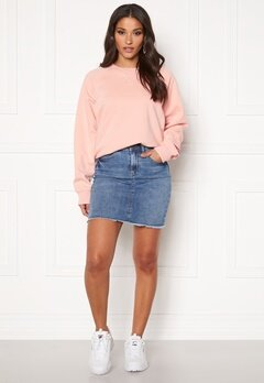 Pieces Aia Denim Skirt Light Blue Denim Bubbleroom.fi
