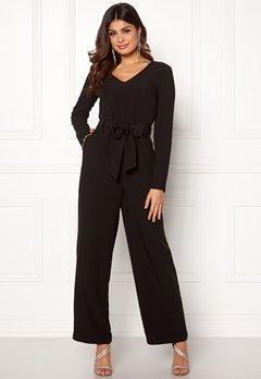 Pieces Albia LS Jumpsuit Black Bubbleroom.fi