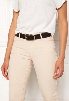 Pieces Ami Jeans Belt Black/Gold Metal Bubbleroom.fi