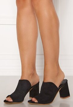 Pieces Anila Suede Mule Black Bubbleroom.fi
