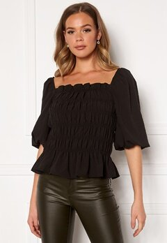 Pieces Asdia SS Top Black Bubbleroom.fi
