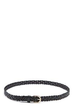 Pieces Avery Braided slim belt Black Bubbleroom.fi