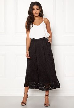 Pieces Beda Ankle Lace Skirt Black Bubbleroom.fi