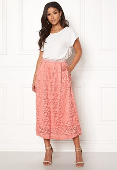 Pieces Beda Ankle Lace Skirt Rose Dawn Bubbleroom.fi