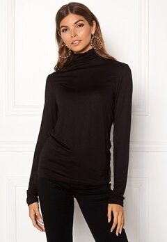 Pieces Billo LS Rollneck Top Black Bubbleroom.fi