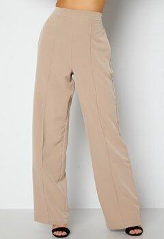 Pieces Bossy HW Wide Pants Silver Mink bubbleroom.fi